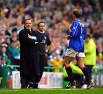 Fernando Ricksen sent off against Celtic as Dick Advocaat rages, 2001