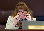 Nevada Assembly Minority Leader Marilyn Kirkpatrick, D-North Las Vegas, works in committee at the Legislative Building in Carson City, Nev., on Wednesday, April 15, 2015.<br /> Photo by Cathleen Allison