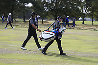 Gavin Green (MAS) and his caddy Kenneth Quillinan on the 14th fairway during Round 2 of the Sky Sports British Masters at Walton Heath Golf Club in Tadworth, Surrey, England on Friday 12th Oct 2018.<br /> Picture:  Thos Caffrey | Golffile<br /> <br /> All photo usage must carry mandatory copyright credit (&copy; Golffile | Thos Caffrey)