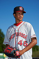 Chattanooga Lookouts pitcher Felix Jorge (46) poses for a photo before a game against the Jackson Generals on April 27, 2017 at The Ballpark at Jackson in Jackson, Tennessee.  Chattanooga defeated Jackson 5-4.  (Mike Janes/Four Seam Images)