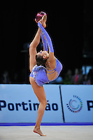 Evgeniya Kanaeva of Russia performs pirouette during ball Event Final at 2010 World Cup at Portimao, Portugal on March 14, 2010.  (Photo by Tom Theobald).