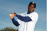 Feb 21, 2009; Lakeland, FL, USA; The Detroit Tigers outfielder Timo Perez (77) during photoday at Tigertown. Mandatory Credit: Tomasso De Rosa/ Four Seam Images