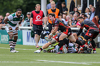 Match action during the Friendly match between Ealing Trailfinders and Dragons  at Castle Bar , West Ealing , England  on 11 August 2018. Photo by David Horn / PRiME Media Images.