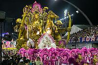 SÃO PAULO, SP, 02.03.2019: CARNAVAL-SP – Apresentação da escola de samba Rosas de Ouro durante o segundo dia de desfile do Grupo Especial do carnaval de São Paulo, neste sábado (02), no Sambódromo do Anhembi na capital paulista. (Foto: Marivaldo Oliveira/Código19)