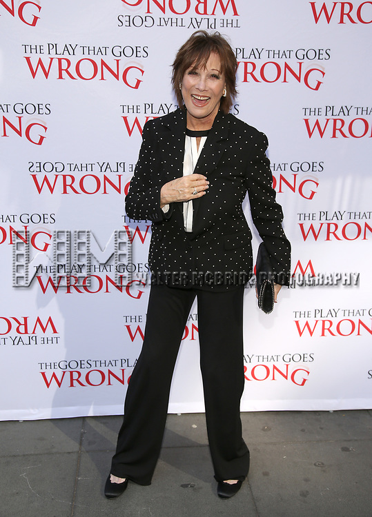 Michele Lee attends 'The Play That Goes Wrong' Broadway Opening Night at the Lyceum Theatre on April 2, 2017 in New York City.