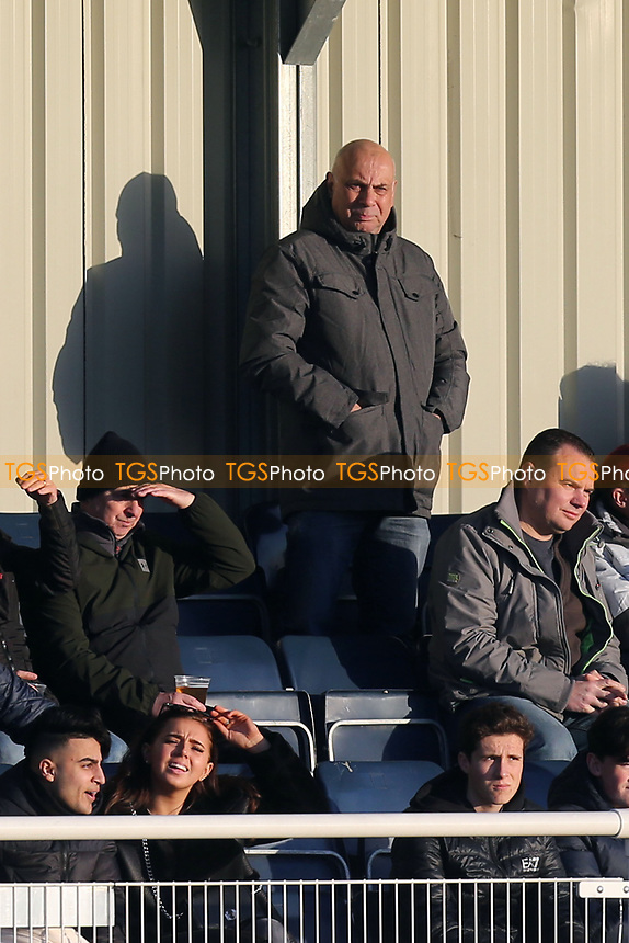 Rumoured new Chelmsford manager Garry Hill watches from the stands during Aveley vs Chelmsford City, Buildbase FA Trophy Football at Parkside on 8th February 2020