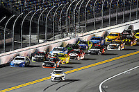 12-13 February, 2016, Daytona Beach, Florida, USA<br /> The Toyota Camry Pace Car pulls off as leader Denny Hamlin, FedEx Express Toyota Camry, paces the field to a restart.<br /> ©2016, F. Peirce Williams