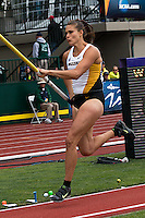 Missouri junior Katrine Haarklau makes her way down the runway during the women's pole vault at the 2014 NCAA Division I Outdoor Track and Field Championships at Hayward Field, in Eugene, Or. Friday, June 13. Harrklau cleared 13-9.25 and finished 6th to add another first-team All-American honor to her resume.