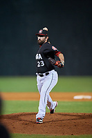 Chattanooga Lookouts relief pitcher Todd Van Steensel (23) delivers a pitch during a game against the Jackson Generals on May 9, 2018 at AT&T Field in Chattanooga, Tennessee.  Chattanooga defeated Jackson 4-2.  (Mike Janes/Four Seam Images)