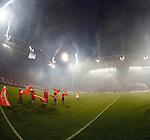Nederland, Utrecht, 26 september  2012.Seizoen 2012-2013.KNVB Beker.FC Utrecht-Ajax.Een vuurwerkspektakel voorafgaand aan de wedstrijd FC Utrecht tegen Ajax, een initiatief van FC Utrecht