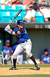 18 March 2006: Jeff Keppinger, infielder for the New York Mets, at bat during a Spring Training game against the Washington Nationals at Space Coast Stadium, in Viera, Florida. The Nationals defeated the Mets 10-2 in Grapefruit League play...Mandatory Photo Credit: Ed Wolfstein Photo..