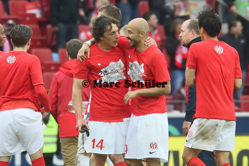 Julian Baumgartlinger mit Elkin Soto (Mainz) - 1. FSV Mainz 05 vs. Hamburger SV, Coface Arena, 34. Spieltag