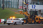 ACCIDENT of Jules BIANCHI in SUZUKA - the car slided of the track on acquaplaning and run under the tow truck at the back side - <br /> Jules BIANCHI, FRA, Team Marussia <br /> Marussia MR03 F1, Ferrari 059/3, <br /> SUZUKA, JAPAN, 05.10.2014, Formula One F1 race, podium, JAPAN Grand Prix, Grosser Preis, GP du Japon, Motorsport, Photo by: Sho TAMURA/AFLO SPORT  -  GERMANY OUT