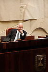 Member of Israel's parliament Reuven Rivlin during a session commemorating 30 years since the signing of a peace treaty between Israel and Egypt, Jerusalem, March 30, 2009. Photo by: Daniel Bar On