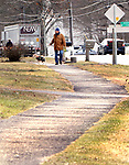 WOODBURY CT. 15 January 2018-011519SV04-Resident&rsquo;s plea for sidewalk repairs along Main Street in Woodbury. They say sidewalks that aren't even with driveways, tree roots growing in them, sidewalks that just end etc.<br /> Steven Valenti Republican-American