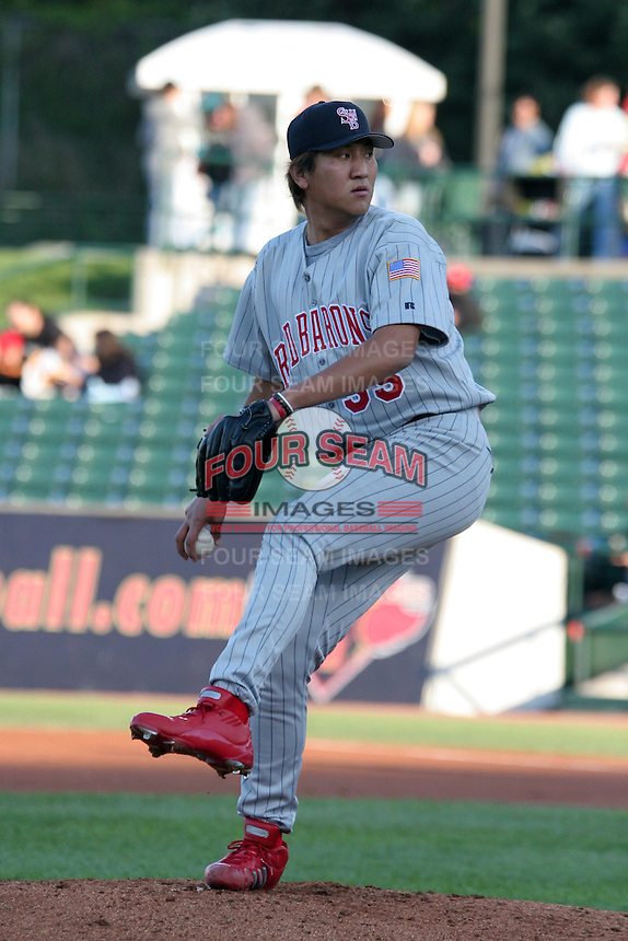 Scranton Wilkes-Barre Red Barons Seung-Hak Lee during an International League game at Frontier Field on May 19, 2006 in Rochester, New York.  (Mike Janes/Four Seam Images)
