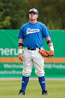 26 july 2010: David Gauthier of France is seen prior to France 10-2 victory over Ukraine, in day 4 of the 2010 European Championship Seniors, in Neuenburg, Germany.