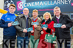 Jack Landers, Aidan McAulliffe, Alan Landers, Ester McAulliffe and David Farrell with their tickets for the Premiere of the Star Wars The Force Awakens in Killarney Cinema on Thursday