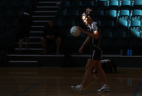 24.10.2015 Silver Ferns Jodi Brown in action during the Silver Ferns training head of their netball test match against the Australian Diamonds in Melbourne. Mandatory Photo Credit ©Michael Bradley.