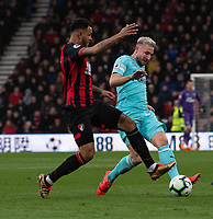 Bournemouth's Joshua King (left) battles with Newcastle United's Paul Dummett (right) <br /> <br /> Photographer David Horton/CameraSport<br /> <br /> The Premier League - Bournemouth v Newcastle United - Saturday 16th March 2019 - Vitality Stadium - Bournemouth<br /> <br /> World Copyright © 2019 CameraSport. All rights reserved. 43 Linden Ave. Countesthorpe. Leicester. England. LE8 5PG - Tel: +44 (0) 116 277 4147 - admin@camerasport.com - www.camerasport.com