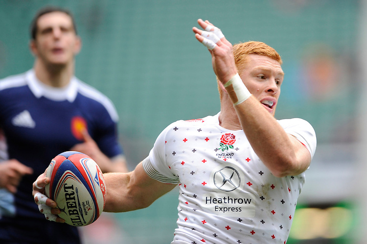 James Rodwell of England in action during Day Two of the iRB Marriott London Sevens at Twickenham on Sunday 11th May 2014 (Photo by Rob Munro)
