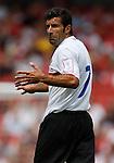 Inter Milan's Luis Figo reacts to a decision.Pic SPORTIMAGE/Simon Bellis..Pre-Season Friendly..Internazionale v Valencia..28th July, 2007..--------------------..Sportimage +44 7980659747..admin@sportimage.co.uk..http://www.sportimage.co.uk/