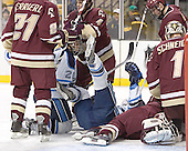 Derek Damon, Mike Brennan, John Hopson, Anthony Aiello, Matt Greene, Cory Schneider - The Boston College Eagles defeated the University of Maine Black Bears 4-1 in the Hockey East Semi-Final at the TD Banknorth Garden on Friday, March 17, 2006.