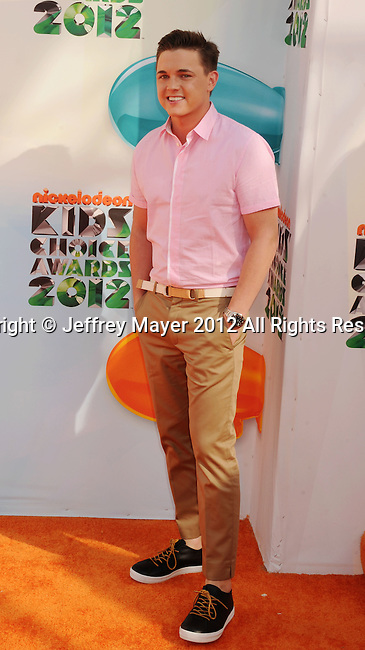 LOS ANGELES, CA - MARCH 31: Jesse McCartney arrives at the 2012 Nickelodeon Kids' Choice Awards at Galen Center on March 31, 2012 in Los Angeles, California.