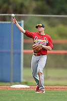 St. Louis Cardinals third baseman Michael Schulze (7) during a minor league spring training game against the New York Mets on March 27, 2014 at the Port St. Lucie Training Complex in St. Lucie, Florida.  (Mike Janes/Four Seam Images)