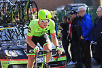 Ryan Mullen (IRL) Cannondale-Drapac climbs La Houpe during the 60th edition of the Record Bank E3 Harelbeke 2017, Flanders, Belgium. 24th March 2017.<br /> Picture: Eoin Clarke | Cyclefile<br /> <br /> <br /> All photos usage must carry mandatory copyright credit (&copy; Cyclefile | Eoin Clarke)