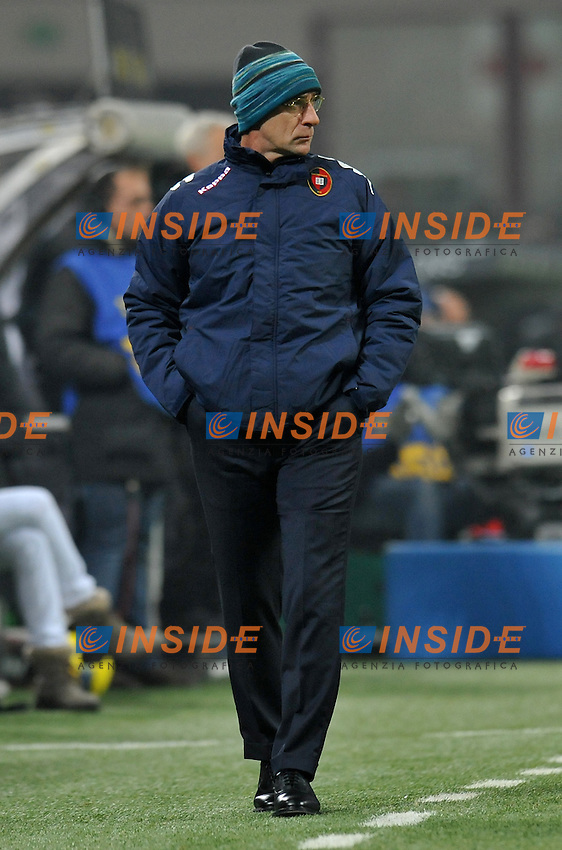 """Daviode BALLARDINI (Cagliari).Milano 19/11/2011 Stadio """"Giuseppe Meazza"""".Serie A 2011/2012.Football Calcio Inter Vs Cagliari.Foto Insidefoto Alessandro Sabattini."""