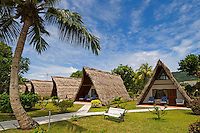 Seychelles, Island La Digue, Anse La Reunion: La Digue Island Lodge - huts<br />