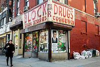 New York, NY 26 February 2016 - Block Drug Store in the East Village