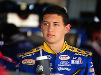 May 30, 2008; Dover, DE, USA; Nascar Nationwide Series driver Brad Coleman during practice for the Heluva Good 200 at the Dover International Speedway. Mandatory Credit: Mark J. Rebilas-
