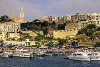 Mgarr, Gozo, Malta.  Harbor, Harbour.