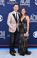 07 April 2019 - Las Vegas, NV - Scotty McCreery, Gabi McCreery. 54th Annual ACM Awards Arrivals at MGM Grand Garden Arena. Photo Credit: MJT/AdMedia<br /> CAP/ADM/MJT<br /> &copy; MJT/ADM/Capital Pictures