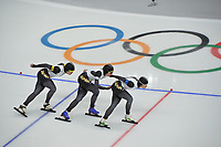 OLYMPIC GAMES: PYEONGCHANG: 19-02-2018, Gangneung Oval, Long Track, Team Pursuit Ladies, Team Japan, ©photo Martin de Jong