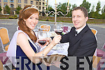 DINING OUT: Kerry Rose Karen McGillycuddy from Killorglin and last year's local escort, Oran Boyle from Castlemaine dined out on the site of the Festival Dome on Monday evening to promote the glamourous Rose Ball.DINING OUT: Kerry Rose Karen McGillycuddy from Killorglin and last year's local escort, Oran Boyle from Castlemaine dined out on the site of the Festival Dome on Monday evening to promote the glamourous Rose Ball.