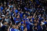BOGOTÁ-COLOMBIA, 15-02-2020: Hinchas de Millonarios durante partido entre Millonarios y Boyacá Chicó F.C. de la fecha 5 por la Liga BetPlay DIMAYOR 2020 jugado en el estadio Nemesio Camacho El Campín de la ciudad de Bogotá. / Fans of Millonarios during a match between Millonarios and Boyaca Chico F.C. of the 5th date for the BetPlay DIMAYOR Leguaje I 2020 played at the Nemesio Camacho El Campin Stadium in Bogota city, Photo: VizzorImage / Daniel Garzón / Cont.