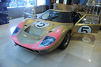 NEW YORK, NY - JULY 6: 1966 Ford GT40 - Now on view in the lobby of Sotheby&rsquo;s Manhattan headquarters before it heads west to RM Sotheby&rsquo;s flagship Monterey sale this August. One of the three<br /> GT40s that swept the 24 Hours of Le Mans race in 1966 in a stunning 1-2-3 finish, this car is a living piece of automotive history. Chassis no. P/1016 wore #5 as it was driven by American racers Ronnie Bucknum and Dick Hutcherson, completing 348 laps and finishing 3rd overall for the Holman &amp; Moody racing team in what was the turning point in Ford&rsquo;s motorsport fortunes as the American manufacturer so badly craved a major racing title, and above all, a win over Ferrari. Now restored to the same golden livery as it wore when it raced at Le Mans, the GT40 is expected to bring $9 to $12 million when it crosses the block in Monterey on July 6, 2018 in New York City. <br /> CAP/MPI122<br /> &copy;MPI122/Capital Pictures