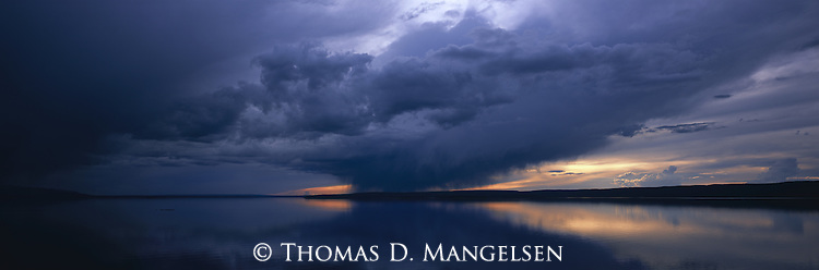 Stormy Skies Over Yellowstone Lake<br /> Yellowstone National Park, Wyoming