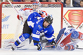 Doug Carr (UML - 31), Sebastian Geoffrion (UAH - 22), Zack Kamrass (UML - 27) - The University of Massachusetts-Lowell River Hawks defeated the University of Alabama-Huntsville Chargers 3-0 on Friday, November 25, 2011, at Tsongas Center in Lowell, Massachusetts.