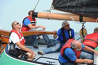 SKUTSJESILEN: HEEG: Hegemer Mar, 14-08-2012, IFKS skûtsjesilen, A-klasse, skûtsje Lytse Lies, Harry Amsterdam (adviseur), schipper Tony Brundel, ©foto Martin de Jong
