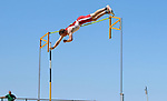 FARGO, ND - MAY 13: Chris Nielsen from the University of South Dakota clears the bar during the men's pole vault competition Saturday at the 2017 Summit League Outdoor Track Championship at the Ellig Sports Complex in Fargo, ND. (Photo by Dave Eggen/Inertia)