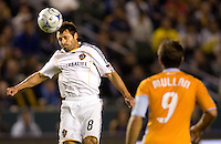 LA Galaxy midfielder Dema Kovalenko with a head ball during the Western Conference Final. The LA Galaxy defeated the Houston Dynamo 2-1 to win the MLS Western Conference Final at Home Depot Center stadium in Carson, California on Friday November 13, 2009.....