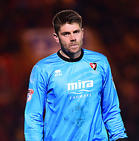 Cheltenham Town's Scott Flinders<br /> <br /> Photographer Andrew Vaughan/CameraSport<br /> <br /> The EFL Sky Bet League Two - Lincoln City v Cheltenham Town - Tuesday 13th February 2018 - Sincil Bank - Lincoln<br /> <br /> World Copyright &copy; 2018 CameraSport. All rights reserved. 43 Linden Ave. Countesthorpe. Leicester. England. LE8 5PG - Tel: +44 (0) 116 277 4147 - admin@camerasport.com - www.camerasport.com
