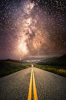 Milky Way Road Through San Luis Obispo County