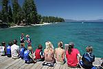 Children on dock at Sugar Pine Pt. State Park
