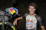 KONA-KAILUA, HI - OCTOBER 12:  Sebastien Kienle of Germany poses for a portrait after his victory during the IRONMAN Triathlon World Championships presented by GoPro on October 12, 2014 in Kailua-Kona, Hawaii. (Photo by Donald Miralle) *** Local Caption ***