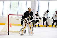 September 15, 2017: Boston Bruins goalie Tuukka Rask (40) waits for the start of drills during the Boston Bruins training camp held at Warrior Ice Arena in Brighton, Massachusetts. Eric Canha/CSM